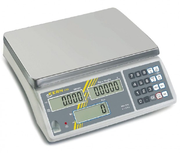 Eichfähige Zählwaage Kern max 3kg / 1g mit Zählsummenspeicher