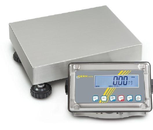 Allround Tischwaage mit Feuchtigkeitsschutz und Check-Weighing-Funktion, optional mit Eichung bestellbar.