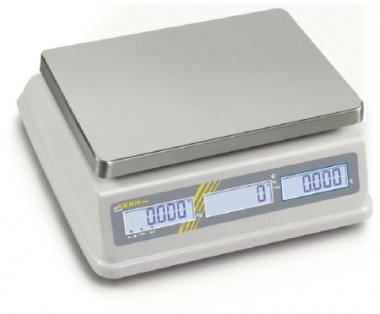Spritzwassergeschützte Ladenwaage max. bis 3kg / 1g -mit Eichung bestellbar-