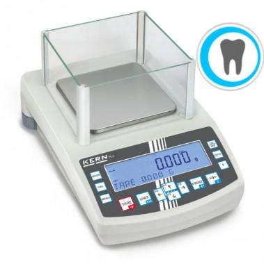 Umfangreiche eichfähige Dentalwaage mit Laborgenauigkeit