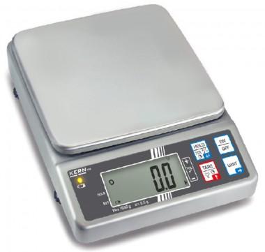 Edelstahlwaage- Tischwaage 1,5kg / 0.5g Eichwert (e)=0.5g