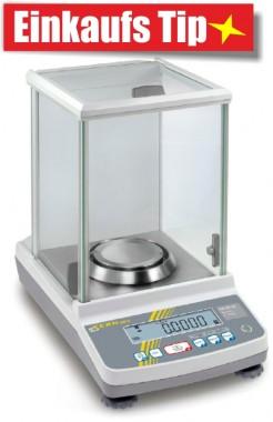 Eichfähige Analysenwaage - Laborausrüstung von KERN 82g/0,1mg